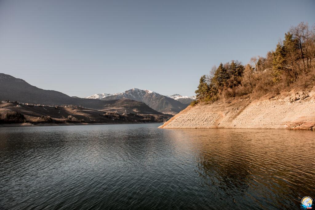 """Lago di Santa Giustina. Scorcio da """"le Plaze"""""""