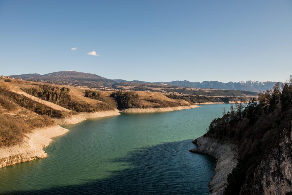 Lago di Santa Giustina. Scorcio dal ponte del Castellaz