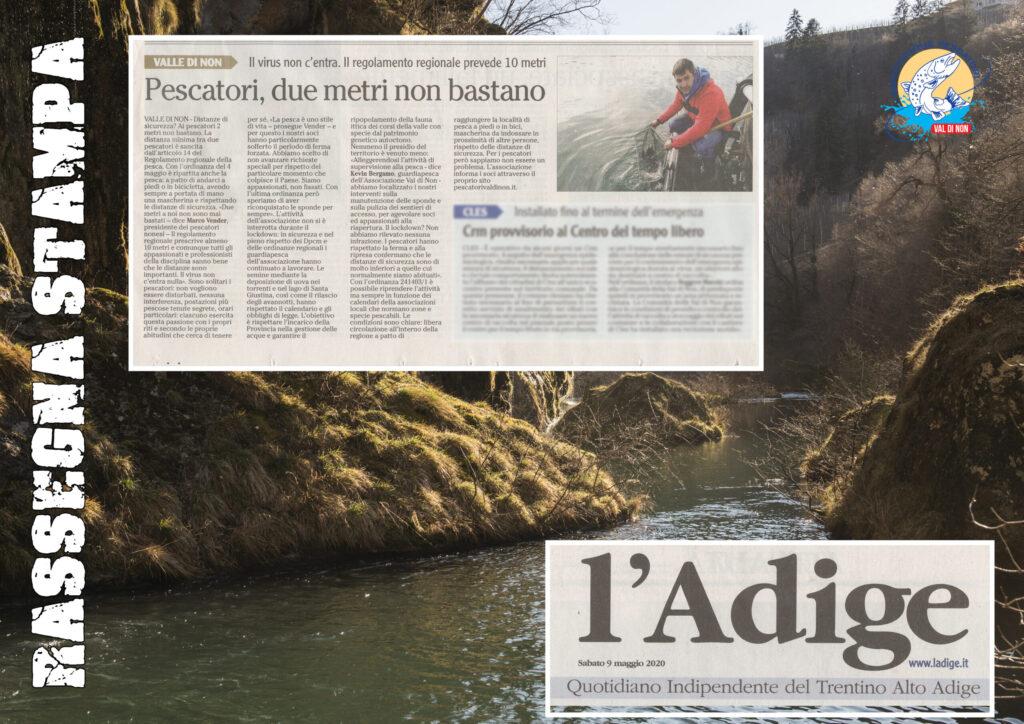 L'Adige 9 maggio. Rassegna stampa pescatori
