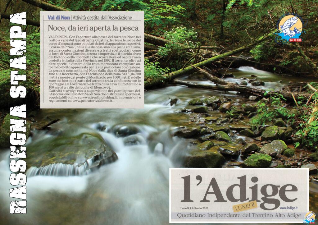L'Adige - Rassegna Stampa | Associazione Pescatori Val di Non